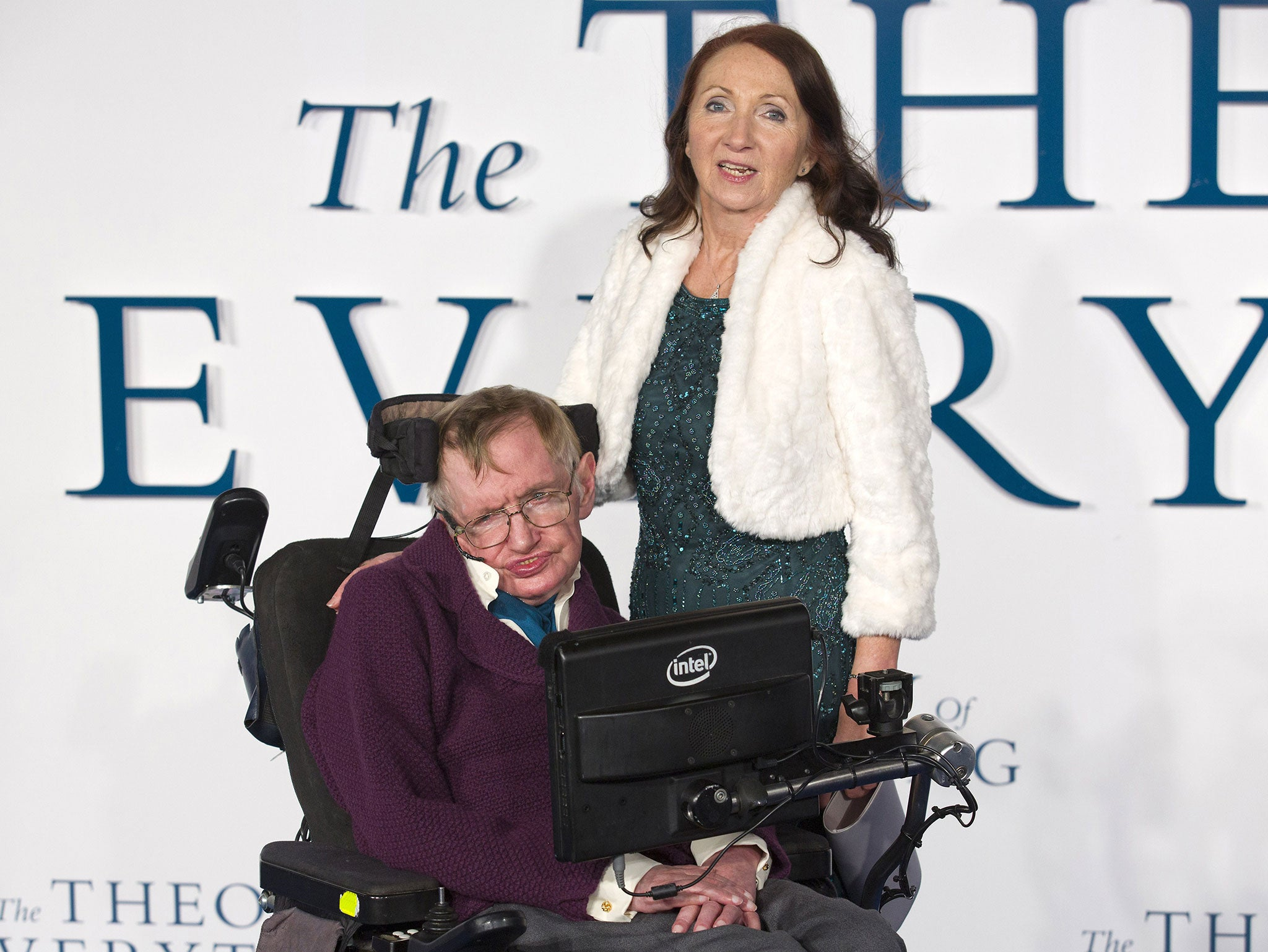 Stephen Hawking with his first wife Jane Wilde