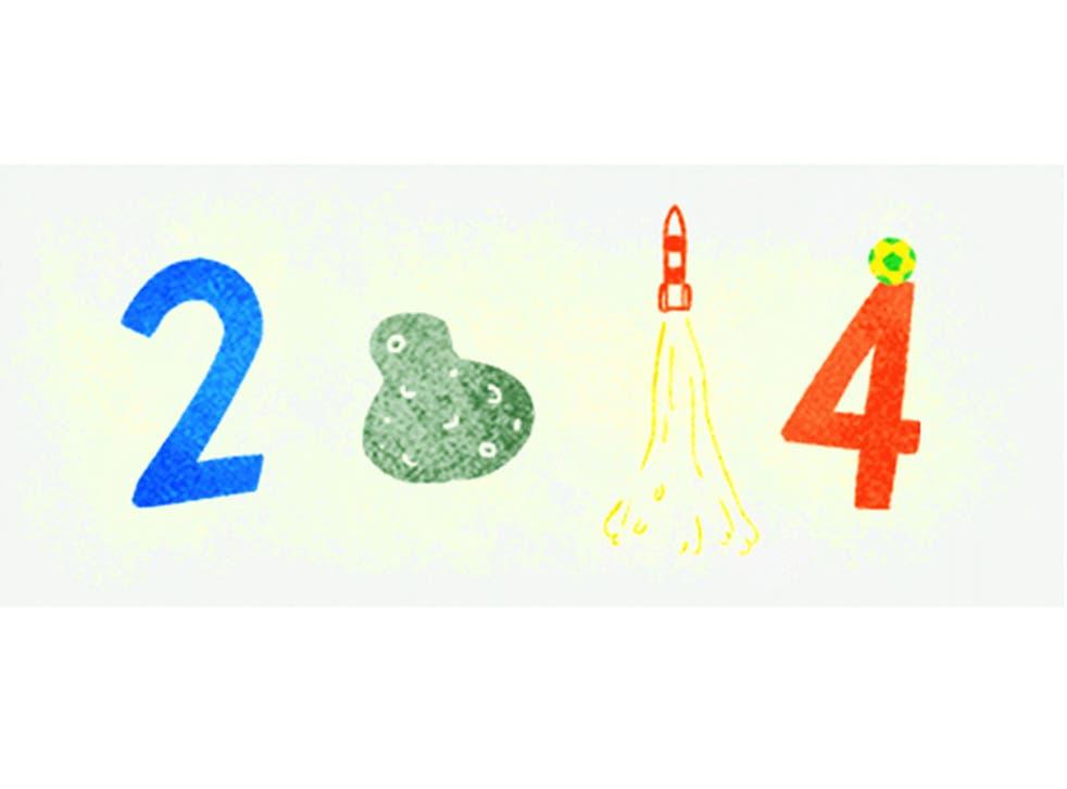 Google's Doodle celebrating the end of 2014