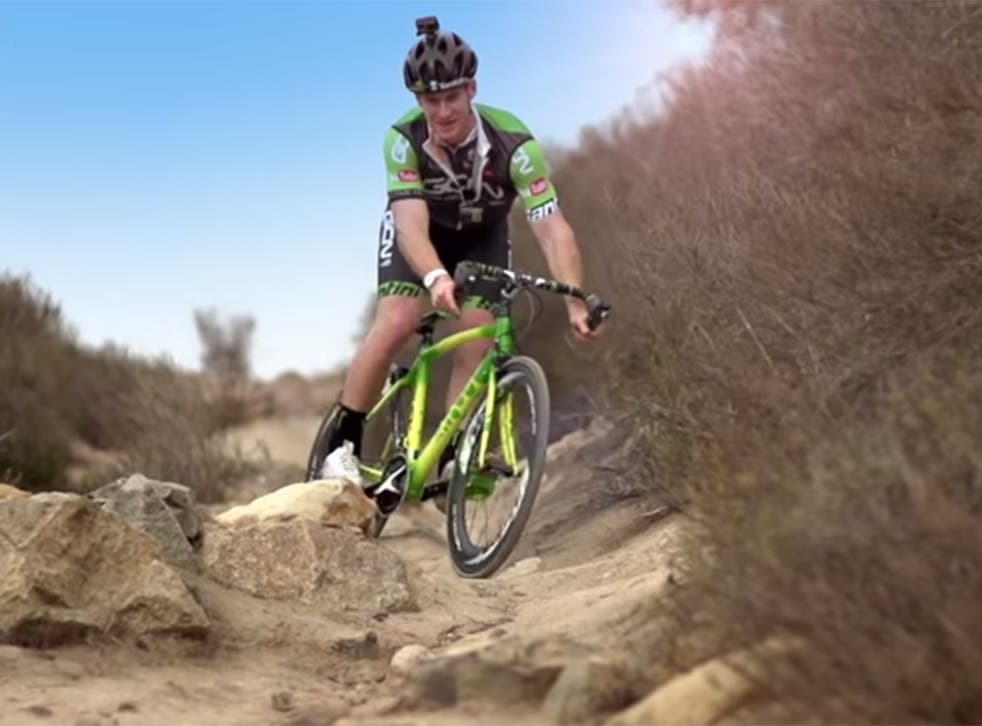 Sam Pilgrim puts the bike through its paces