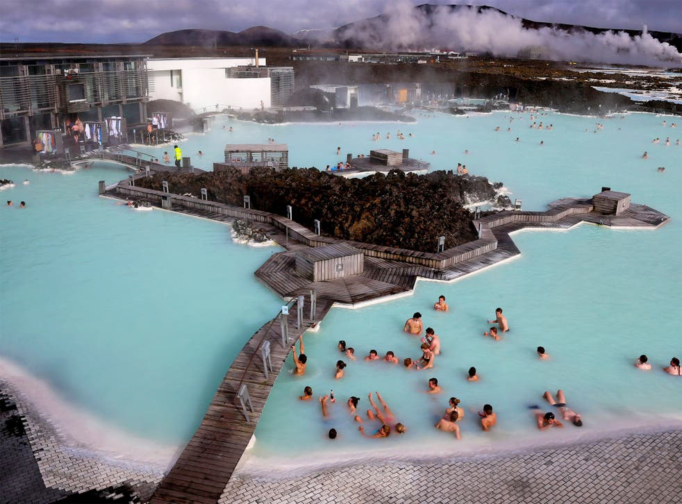 Geothermal waters at the Blue Lagoon near the Icelandic capital, Reykjavik – one of the country's top attractions