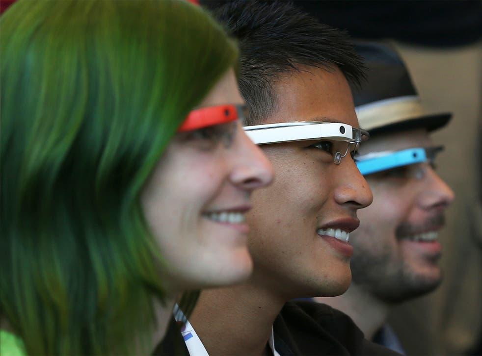 Google glasses wearers (glassholes)