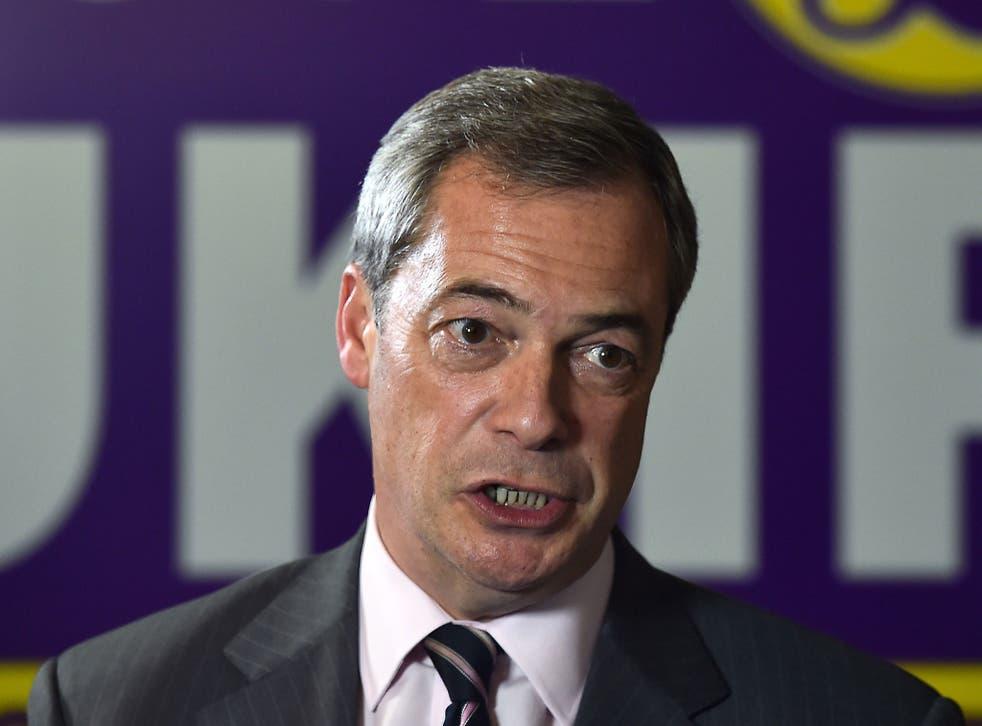 Ukip leader Nigel Farage pictured in November