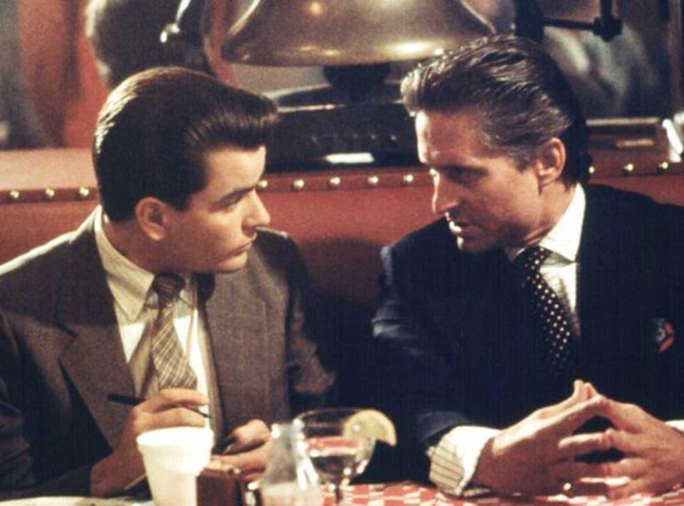 Greed is good: Michael Douglas (right) as Gordon Gecko