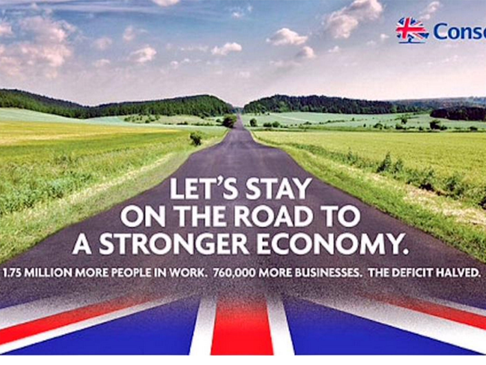 Conservative election poster: Tories use picture of German ...