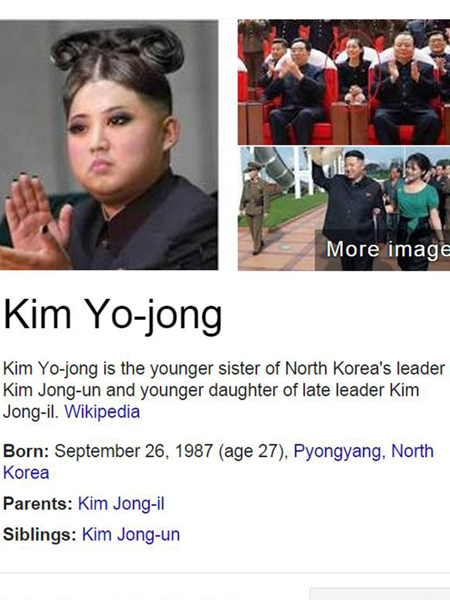 No Google This Is Not A Photo Of Kim Jong Un S Sister The