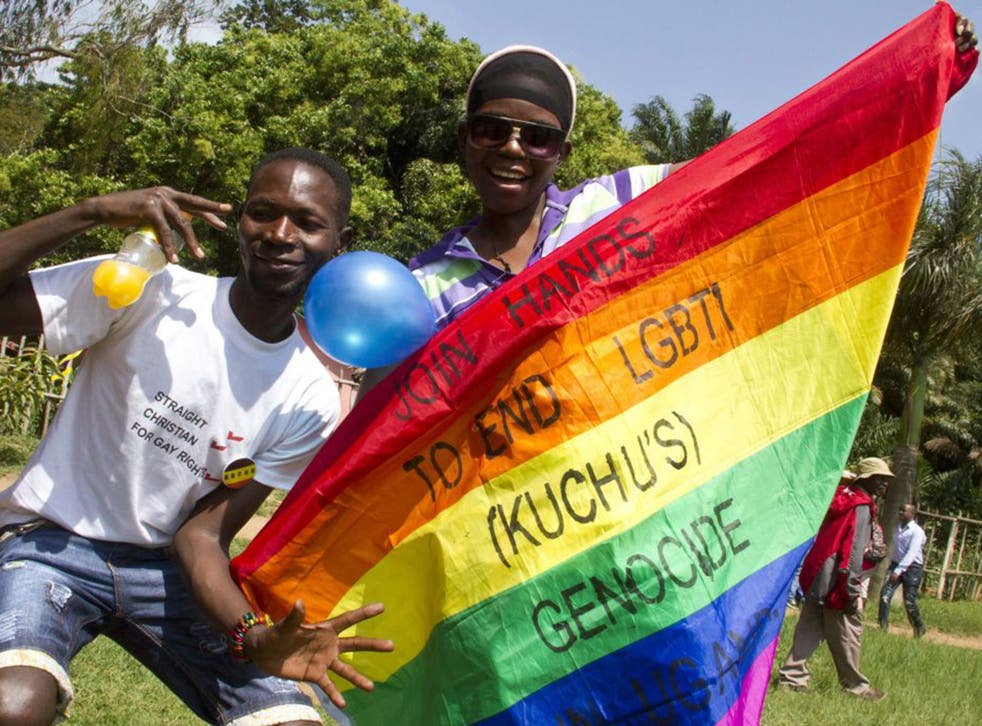 Activists in Entebbe last August (AFP/Getty)