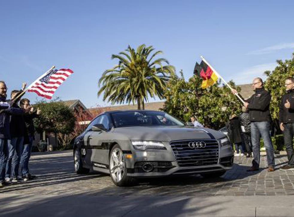 Audi's self-driving car is now on its way from California to Las Vegas, for the Consumer Electronics Show there
