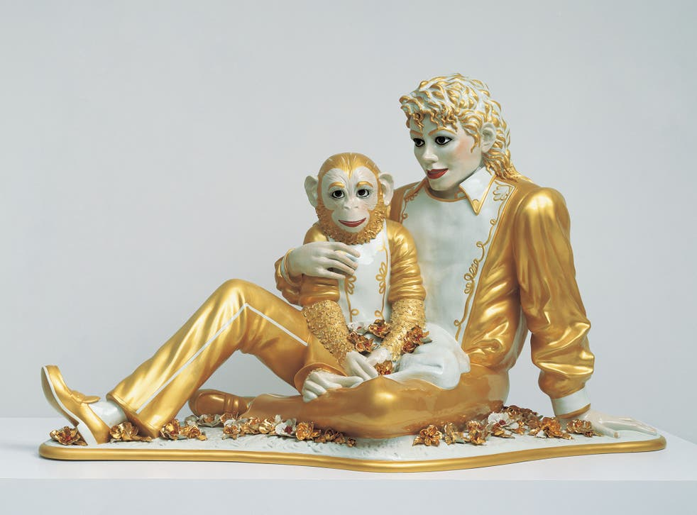 'Michael Jackson and Bubbles' by Jeff Koons (1988)