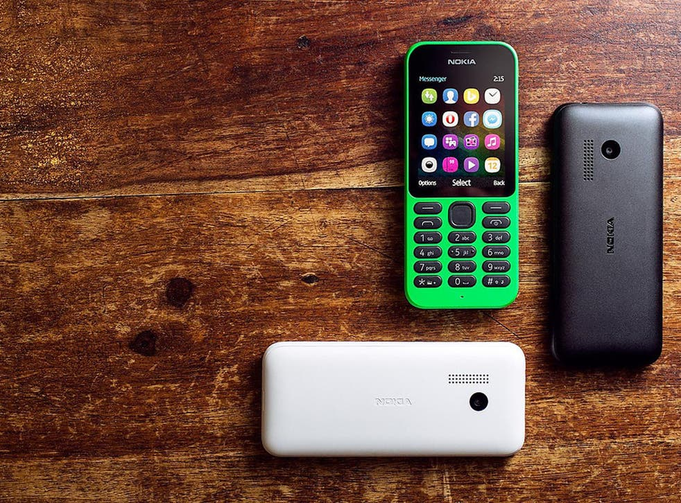 The Nokia 215, which comes in a range of colours