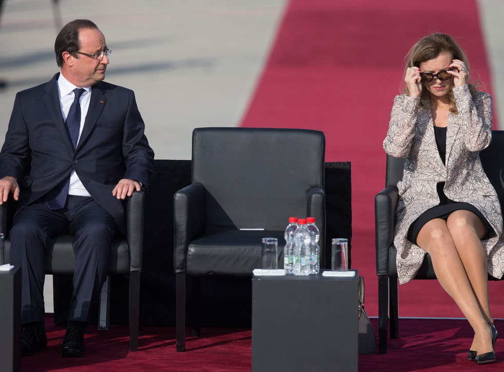 Valerie Trierweiler's autobiography tells the story of her seven-year relationship with Francois Hollande, whom she never married (Getty)