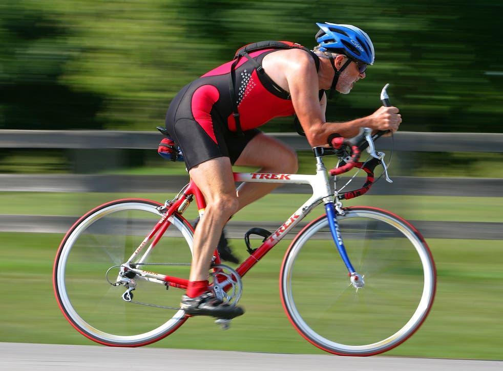 Scientists analysed the physiological functions of more than 120 regular cyclists aged between 55 and 79, and failed to find any of the obvious signs of ageing they might have expected (Getty)