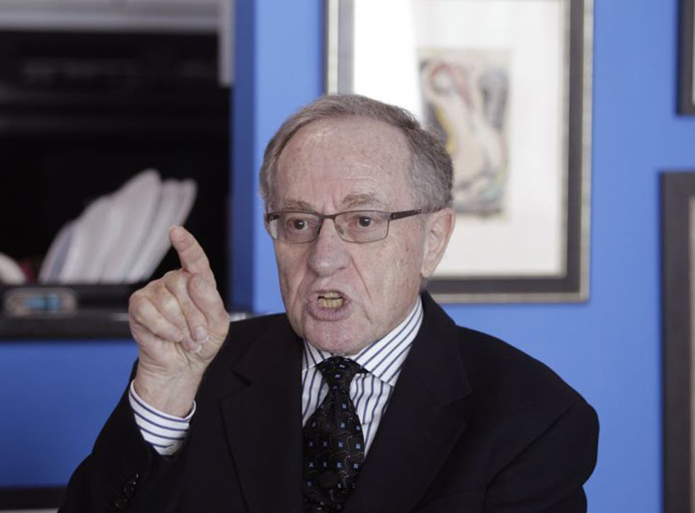 Alan Dershowitz discussed the allegations levelled against him during an interview at his home in Miami on Monday (Reuters)