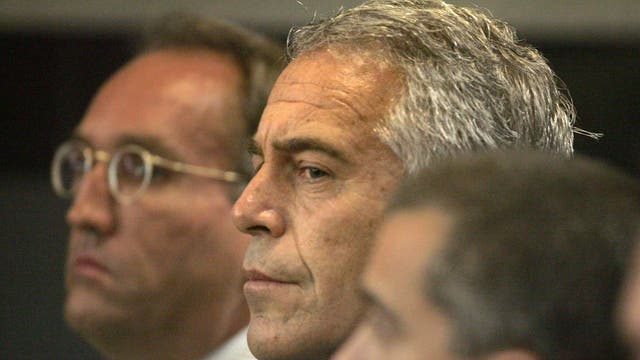 Billionaire financier Jeffrey Epstein attends court as he pleads guilty to solicitation and procuring a person under the age of 18 for prostitution, 2008