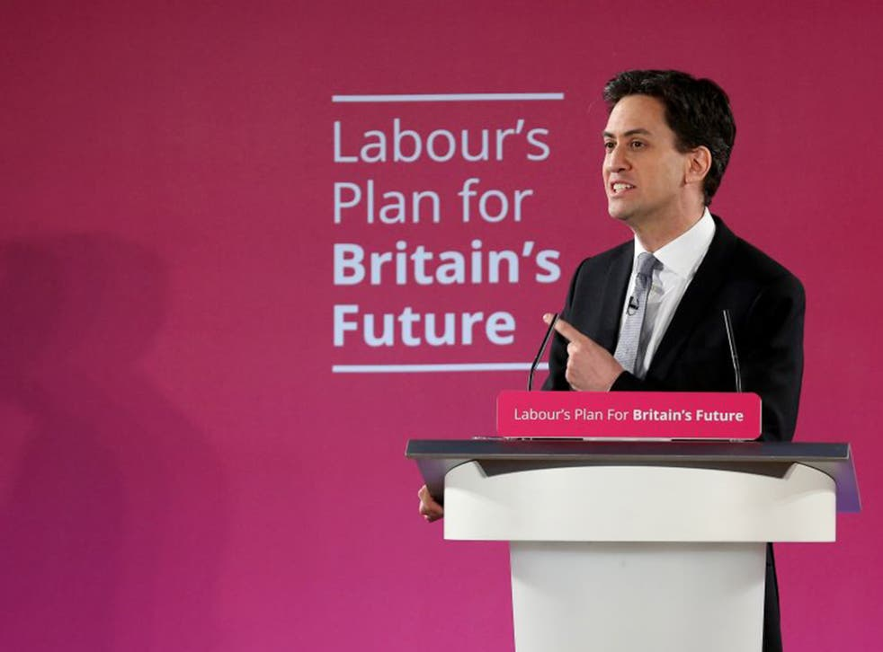 Labour party leader Ed Miliband addressed party activists as he launched the party's 2015 election campaign at the Lowry Centre on Monday (Getty)