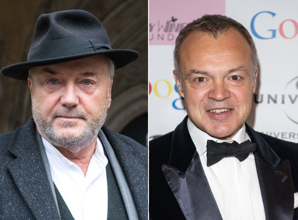 The BBC presenter and comic, Graham Norton, lives close to George Galloway's old constituency of Bow and Poplar (Rex)