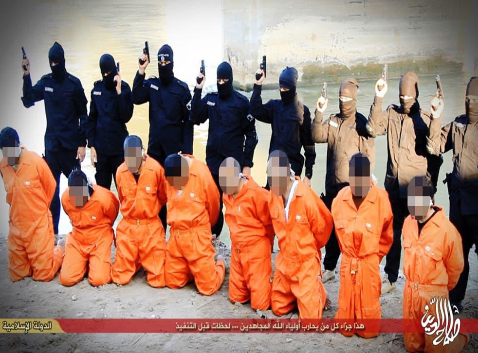 Eight Iraqi men were shot by Isis militants