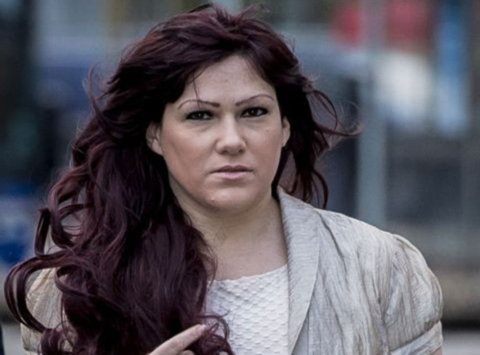 Joanne Mjadzelics arriving at Cardiff Crown Court on 6 January