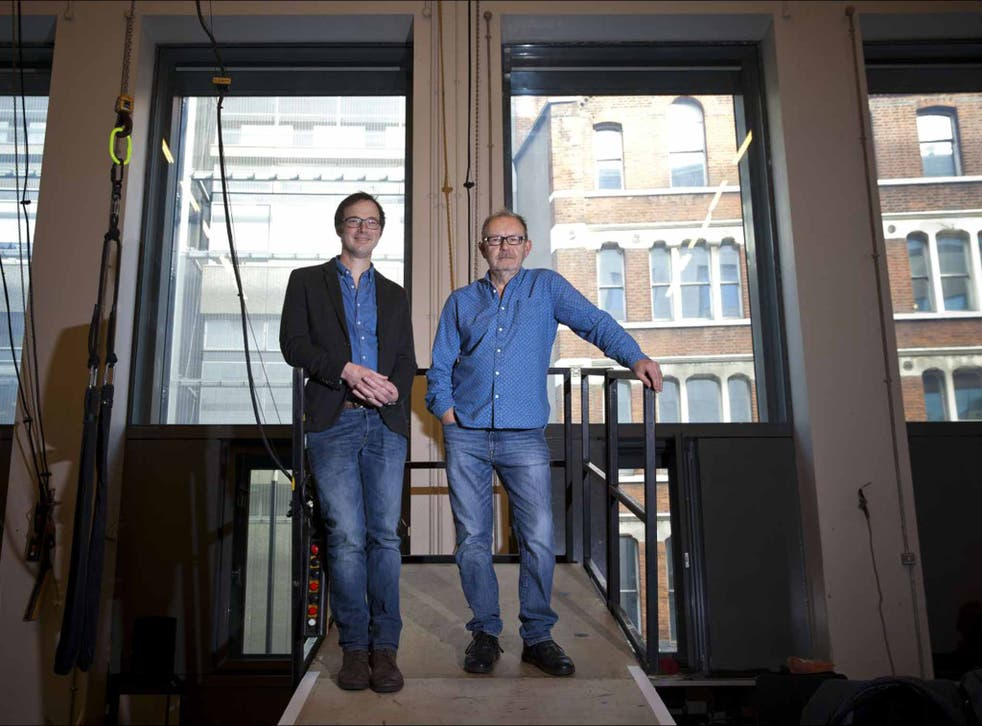 Window of opportunity: set designer Tom Piper (on left) with 'Orfeo' director Michael Boyd