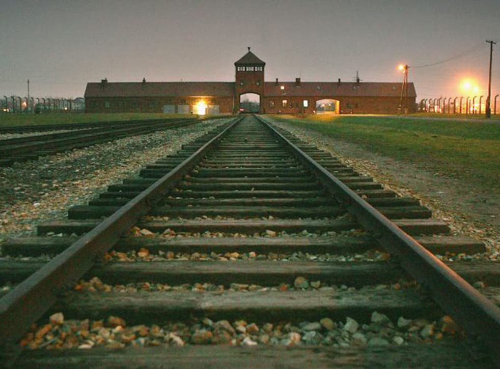 End of the line: the main entrance to Auschwitz-Birkenau concentration camp, in the village of Brzezinka, Poland