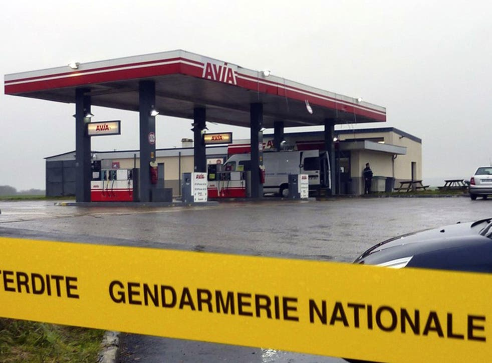 The petrol station near Villers-Cotterêt where the brothers were spotted