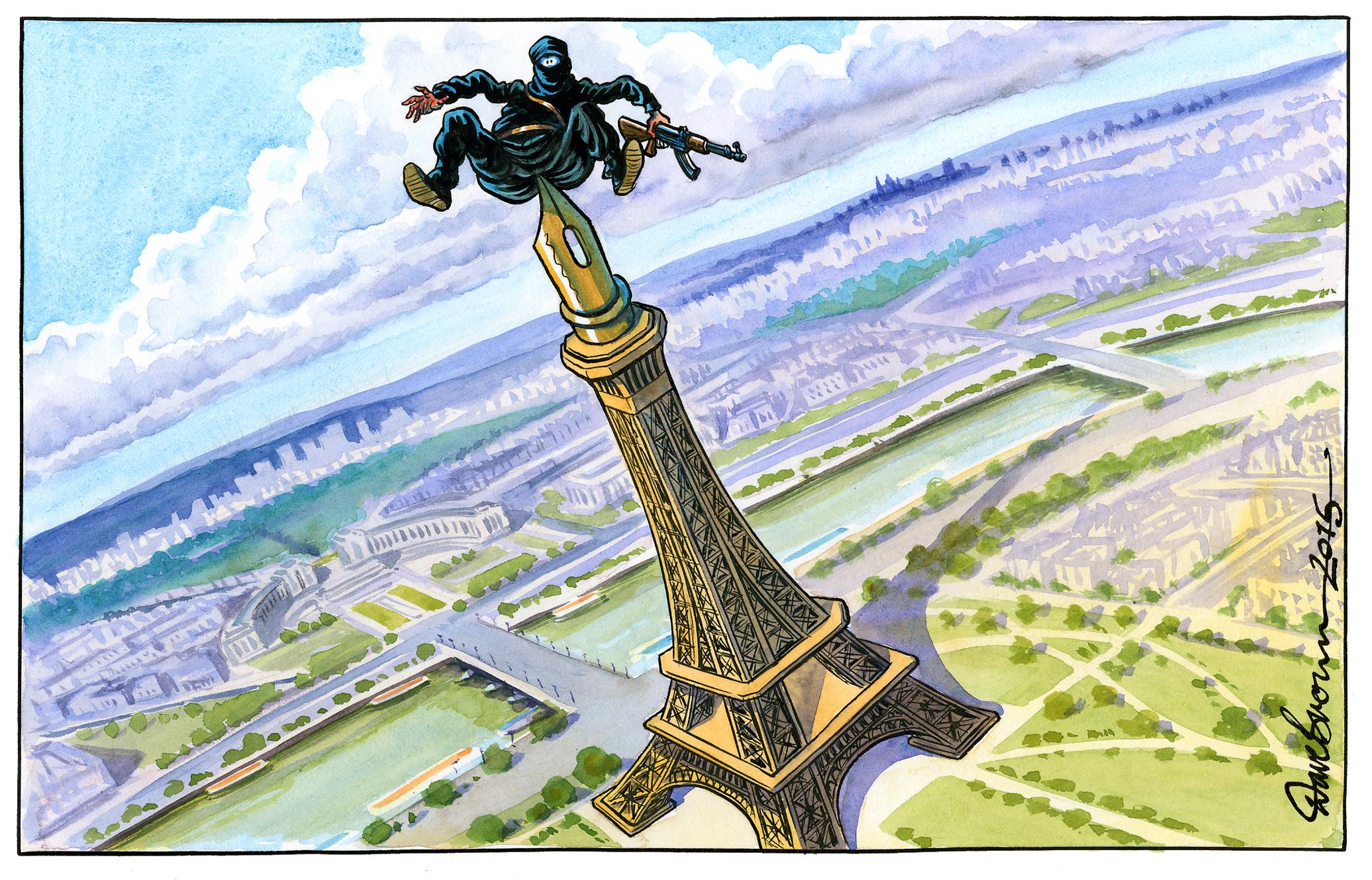 Afbeeldingsresultaat voor Paris the city of Islam cartoon