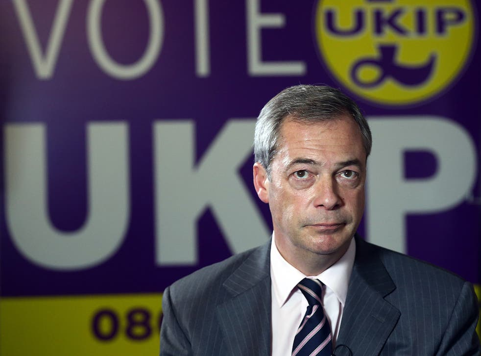 Nigel Farage said the Ukip election campaign will be positive - then called a Labour MP a 'disgraceful woman'