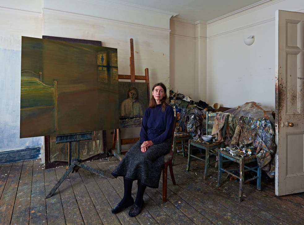 The artist Celia Paul in her Bloomsbury studio