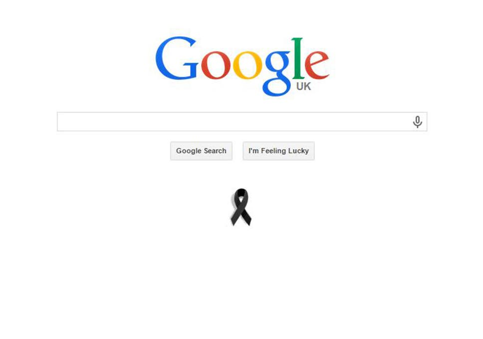 Google Pays Tribute To Charlie Hebdo Attack Victims With Black