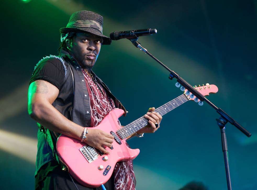 D'Angelo performs at the  Lovebox Festival, Victoria Park London, in 2013