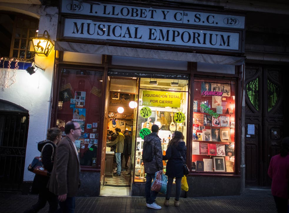 Due to Spanish law changes traditional small businesses are in danger of closure