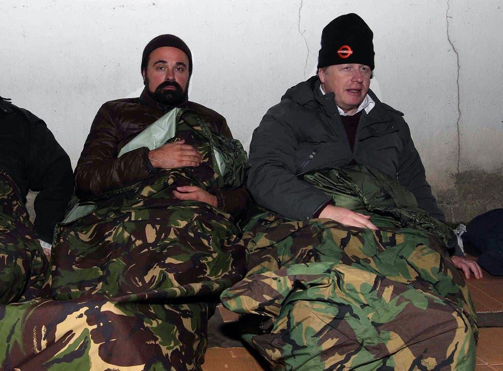 Evgeny Lebedev and Boris Johnson bedding down