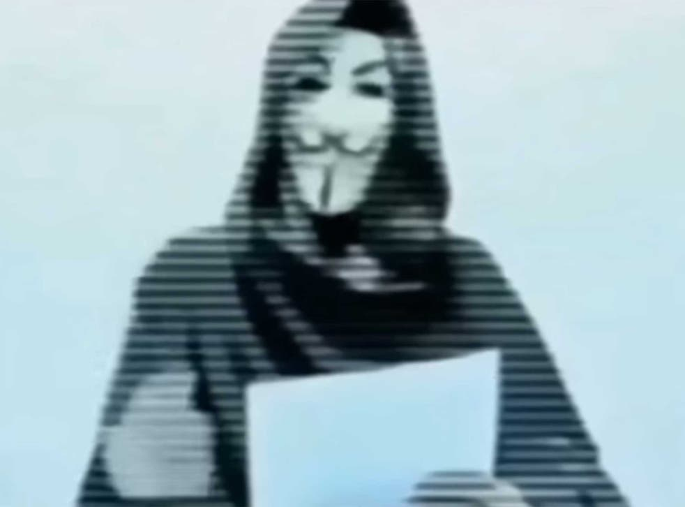 A screengrab from the original threat, posted on YouTube