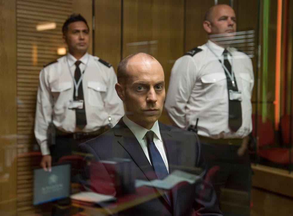 Matthew Gravelle on trial for Danny Latimer's murder as Joe Miller in Broadchurch series two