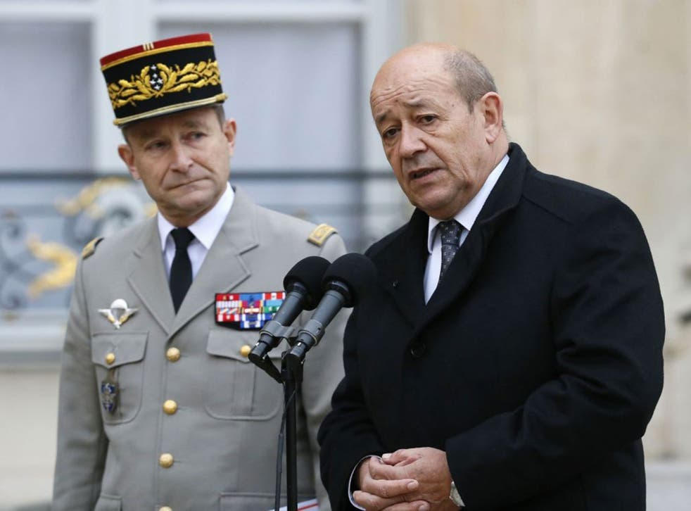 French Defence Minister Jean-Yves Le Drian said Isis must be wiped out