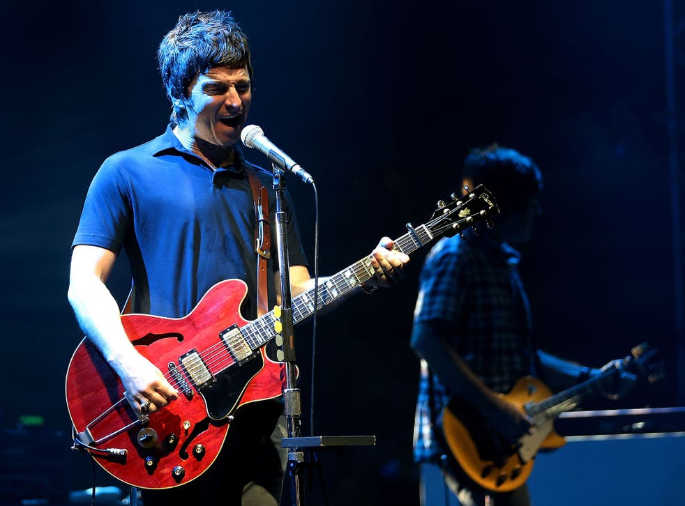 Noel Gallagher performs with Noel Gallagher's Flying Birds in Singapore