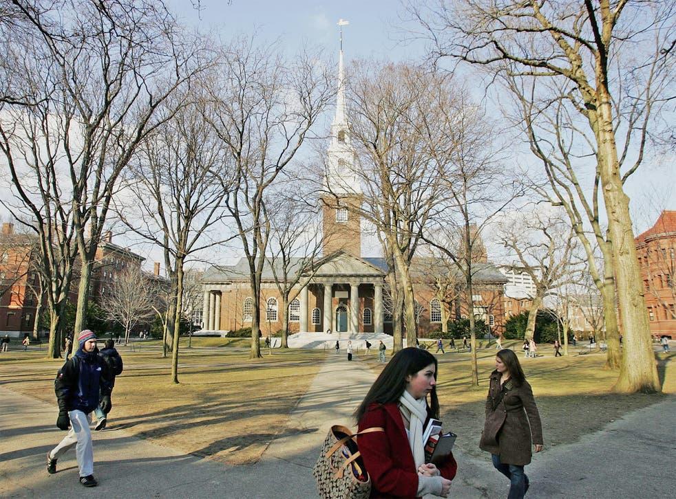 Prestigious US university, Harvard