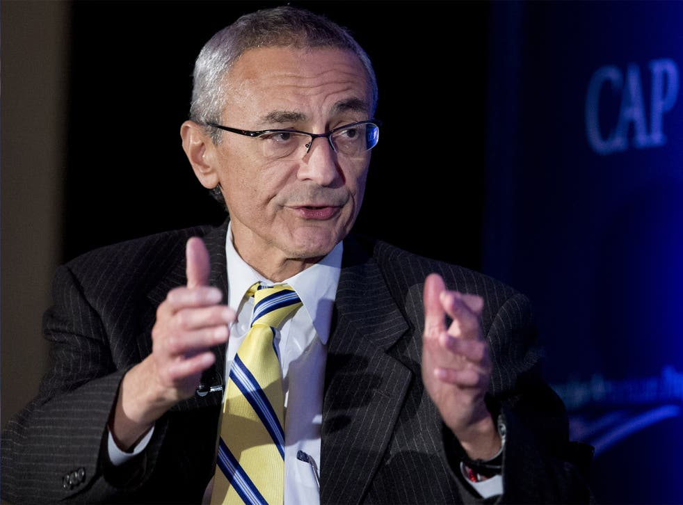Podesta's vacation isn't keeping him from punching back