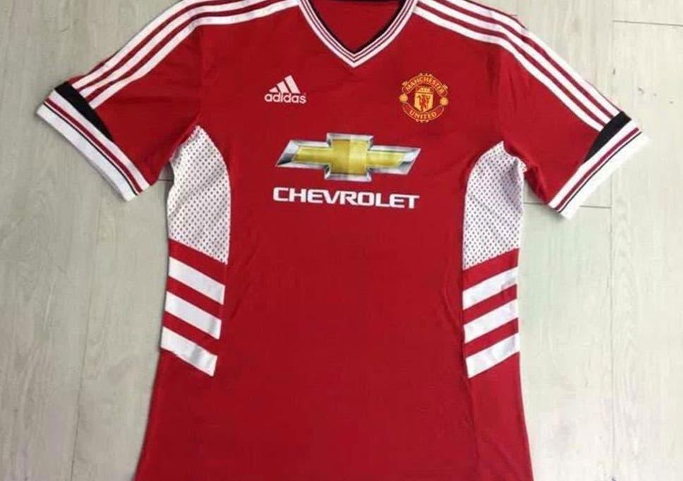 b4d39208f Manchester United 2015 16 shirt  United fans slam  hideous  new ...