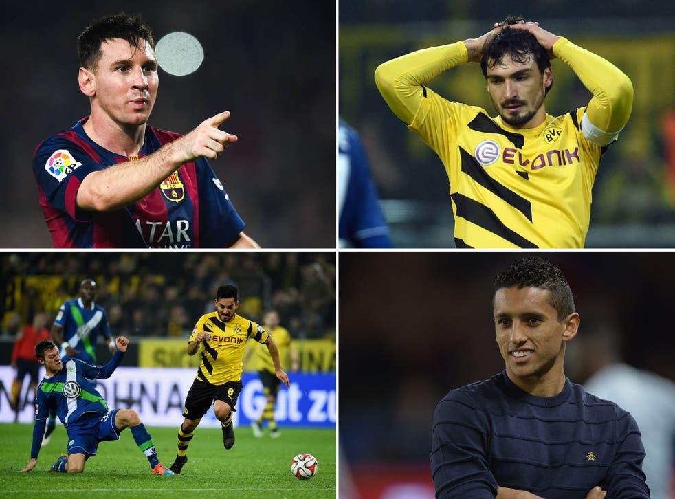 Lionel Messi, Mats Hummels, Ilay Gundogan and Marquinhos
