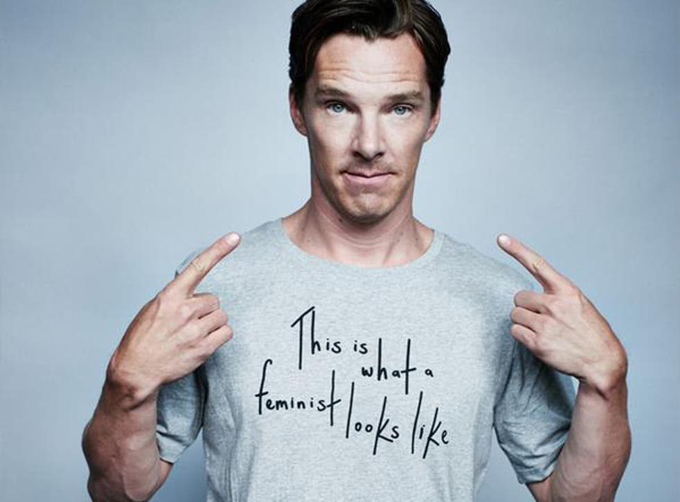 Benedict Cumberbatch donned ELLE's T-shirt to support feminist group the Fawcett Society
