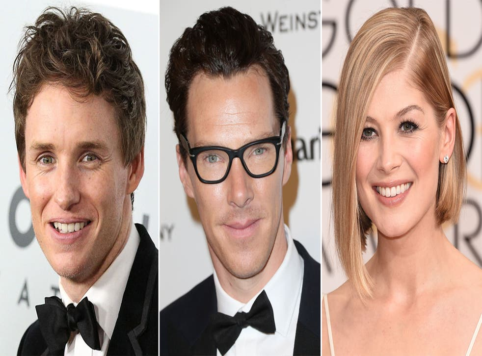 British hopefuls Eddie Redmayne, Benedict Cumberbatch and Rosamund Pike can expect a super posh goodie bag at the Oscars