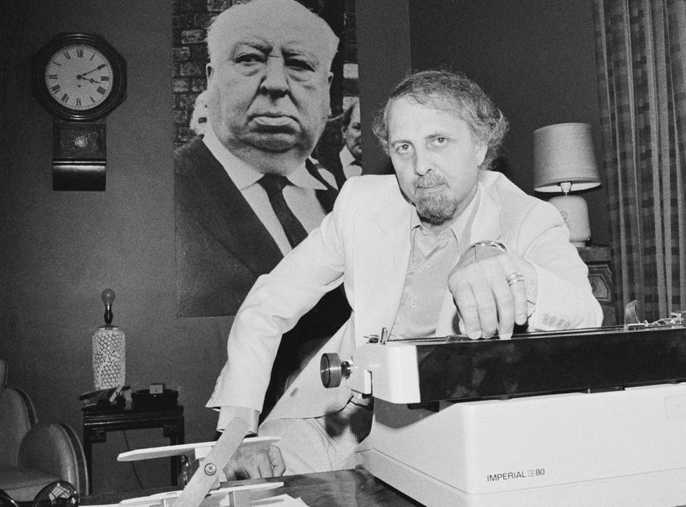 Brian Clemens at his desk in 1976