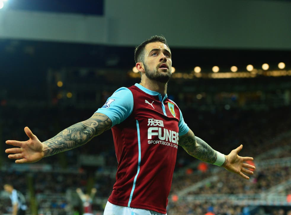 Danny Ings celebrates scoring against Newcastle earlier this month