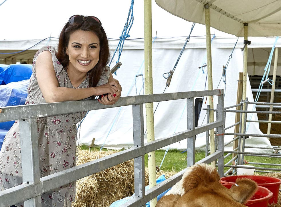 Reham Khan when she was a presenter for BBC South Today in 2011