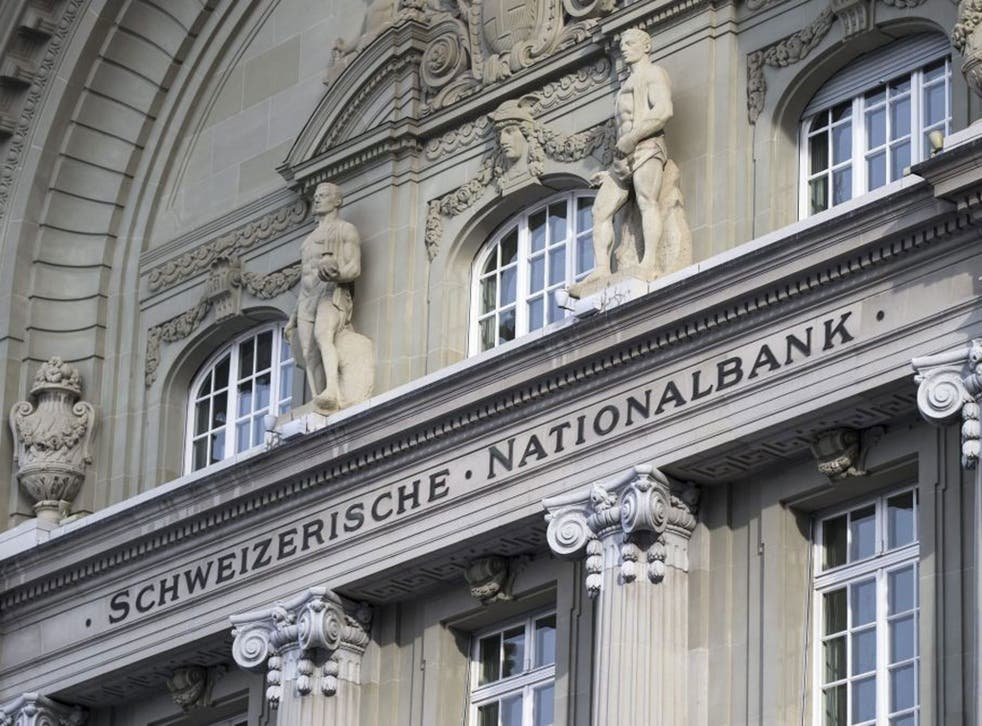 The Swiss National Bank pictured on 15 January, 2015, in Bern, Switzerland