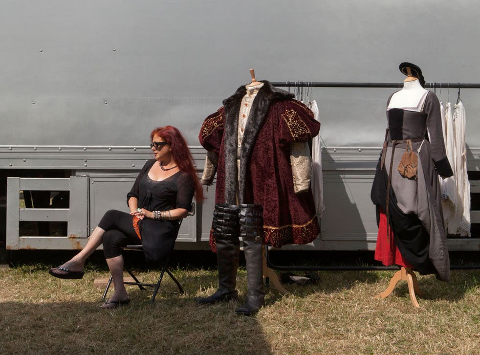 Joanna Eatwell outside her costume truck on the set of 'Wolf Hall'
