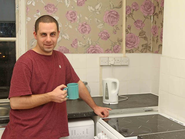 Chris Ubsdell was once homeless but now has a flat in Lambeth