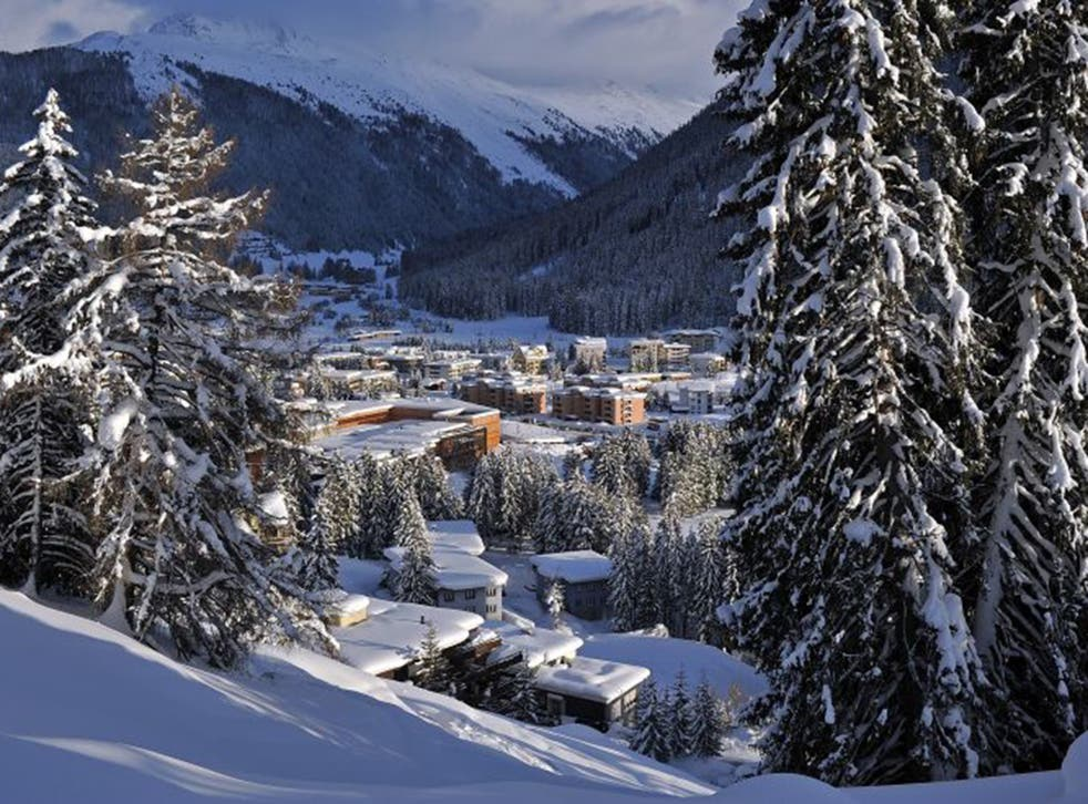 The Swiss mountain resort of Davos is the stage for this week's World Economic Forum (Getty)