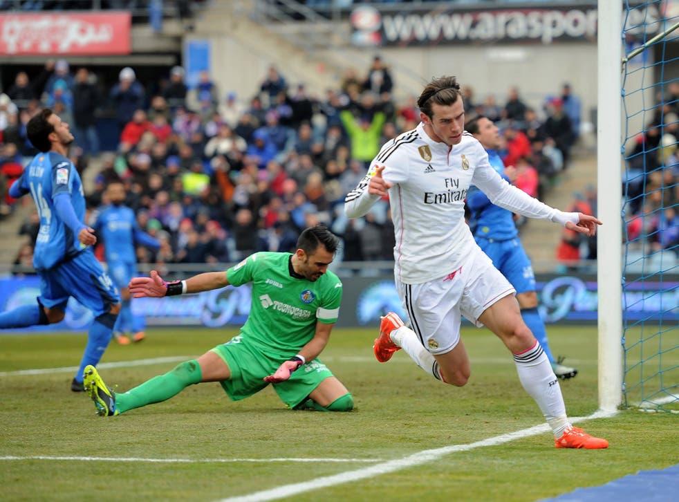 Gareth Bale scores for Real Madrid against Getafe on Sunday