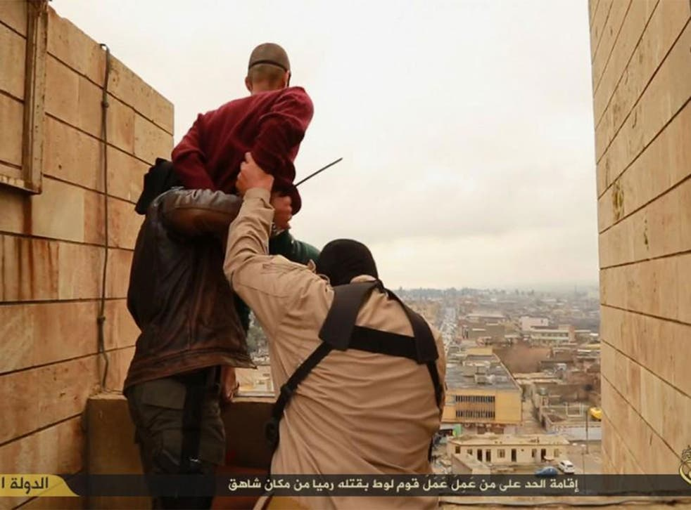 Isis images appear to show the execution of two men accused of being gay